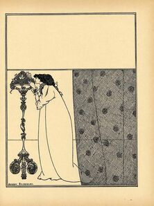 "Aubrey Beardsley, 'Cover design for No. 4 of The Savoy, printed in ""A Second Book of Fifty Drawings,"" by Aubrey Beardsley', ca. 1899"