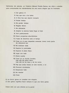 Federico Manuel Peralta Ramos, 'Mandamientos Gánicos', 1966 / Intervenido en 1977