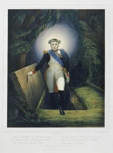 Jean-Pierre-Marie Jazet, 'Napoléon sortant de son tombeau (Napoleon emerging from his tomb), after Jean Joseph Bastier de Bez', 1860