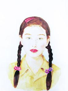 Qi Zhilong, 'China Girl with Braids', 2008