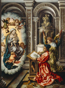 Jan Gossaert, 'Saint Luke Painting the Virgin Mary', 1520