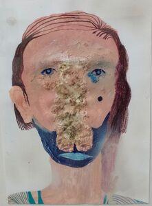 Silvia Mei, 'Ritratto con odore e blu', 2014