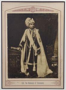 Raja Deen Dayal, 'The Maharaja of Travancore', ca. 1890