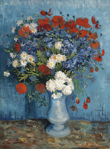 Vincent van Gogh, 'Vase with Cornflowers and Poppies', 1887