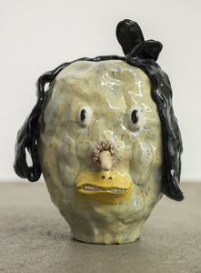 Joakim Ojanen, 'Blue duck head with nose', 2016