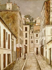 Maurice Utrillo, 'Impasse Cottin (cul-de-sac in Paris, France)', ca. 1910