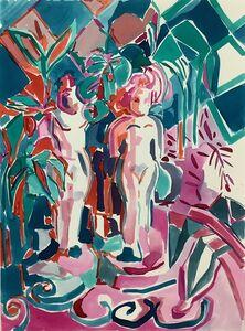 Emi Avora, 'Garden with goddesses', 2019