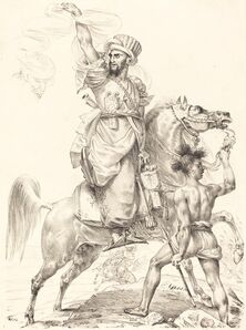 Antoine-Jean Gros, 'The Chief of the Mamelukes on Horseback', 1817