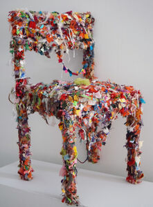 Alyson Vega, 'Shredded Fabric Chair', 2018