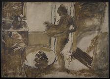 Nude Woman Drying Herself (Femme au Tub)