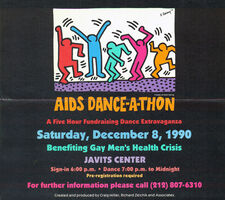 Keith Haring, 'Keith Haring AIDS Dance-A-Thon poster 1990', 1990