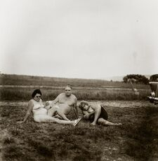 A family one evening in a nudist camp, PA