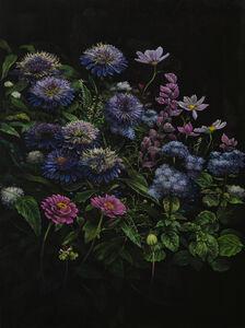 Helena Parada-Kim, 'Violet dahlias', 2019