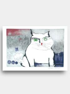 Aldemir Martins, 'White Cat', 1997