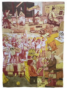 William Buchina, 'Scenery in Red, Yellow, Orange', 2020