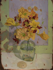 Benjamin J. Shamback, 'Day Lily Bouquet on Violet', 2018
