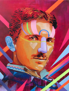 Btoy, 'Power is the Energy (Portrait of Nikola Tesla)', 2013