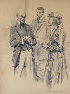 James Montgomery Flagg, 'Couple Pleading with Man', 20th Century
