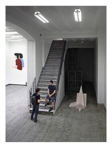 """Jonathan Millán, 'Reproducción a escala 1:2,773 del momento en mi inauguración en que Quim me dijo: """"Creo que con tu trabajo tratas de protegerte""""', 2016"""