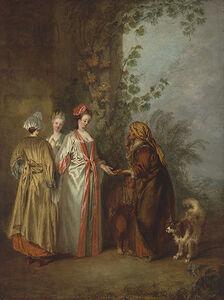 Jean-Antoine Watteau, 'The Fortune Teller', ca. 1710