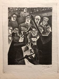 Jerome Kaplan, 'The Critic or Nick's 1947 Lithograph Jazz Band', 20th Century