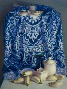 Janet Monafo, 'White Eggs, White Eggplants', 2007