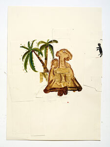 Rose Wylie, 'Camel and Monkey', 2012