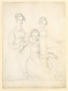 Jean-Auguste-Dominique Ingres, 'The Kaunitz Sisters (Leopoldine, Caroline, and Ferdinandine)', 1818