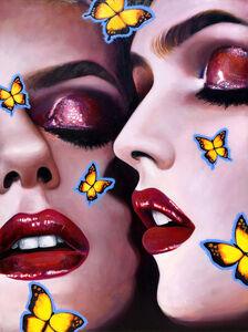 Manzur Kargar, 'Butterfly Kiss', 2020