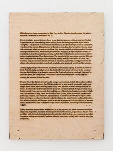 Ed Atkins, 'Untitled (Wall Text)', 2017