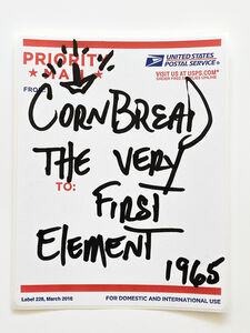 Cornbread, 'Postal Label Series: The Very First Element 1965', 2020