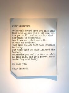 Blue and Joy, 'Dear Tomorrow', 2015