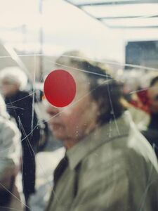 Christopher Anderson, 'A red dot on the glass of a bus stop. Sete, France. ', 2011