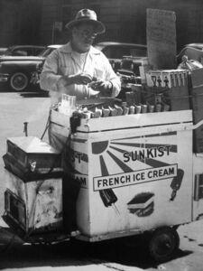 John Albok, 'Untitled (ice cream vendor)', 1958