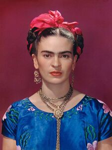 Nickolas Muray, 'Frida Kahlo in Blue Blouse (1st edition)', 1939