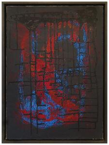Sari Dienes, 'Red & Blue Drip', ca. 1953