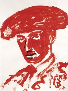Luciano Castelli, 'Red bullfighter', 2005