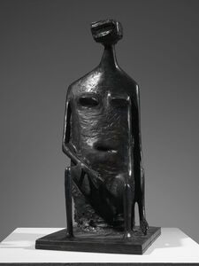 Kenneth Armitage, 'Seated Woman with Square Head', 1955