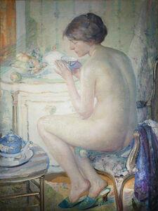 Richard Edward Miller, 'Woman in a Boudoir', ca. 1910