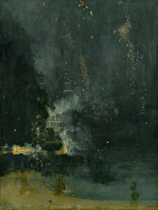 James Abbott McNeill Whistler, 'Nocturne in Black and Gold, the Falling Rocket', 1875