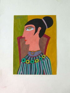 Hajo Malek, 'Mod Retro Big Jewelery Outsider Portrait', 1980-1989