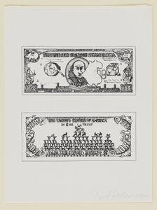 Öyvind Fahlström, '$108 Bill (from The New York Collection for Stockholm portfolio)', 1973