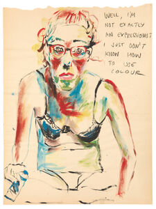Elke Krystufek, 'Not Exactly an Expressionist', 1995