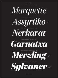 Kris Sowersby, 'Specimen, Domaine Display Italic typeface', 2013