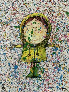 "dran, 'DRAN ""PLUIE DE COULEURS"" MULTICOLURED PRINT HAND SIGNED & NUMBERED BY ARTSIT ,', 2018"