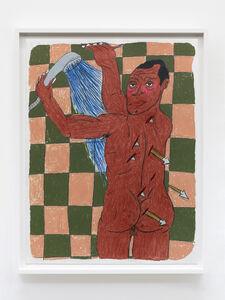 Soufiane Ababri, 'Bedwork/ James Baldwin penetrated by drops of water like saint Sebastian by arrows', 2020