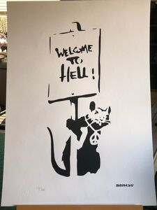 "After Banksy, '""Welcome to Hell""', Unknown"