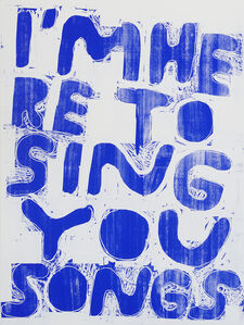 Stefan Marx, 'I'm Here To Sing You Songs (Negative)', 2020