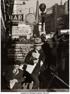 Lou Stoumen, 'Going to Work, Times Square, New York', 1940