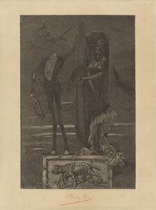 Félicien Rops, 'Le Vice suprème: Frontispiece', 1884